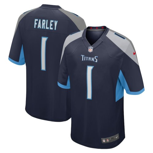 Youth Caleb Farley Navy 2021 Draft First Round Pick Player Limited Team Jersey