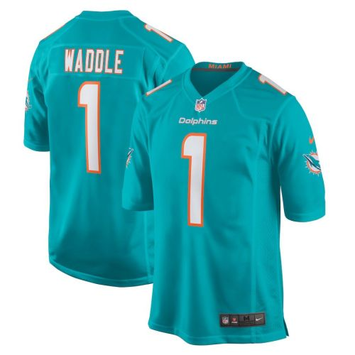 Youth Jaylen Waddle Aqua 2021 Draft First Round Pick Player Limited Team Jersey