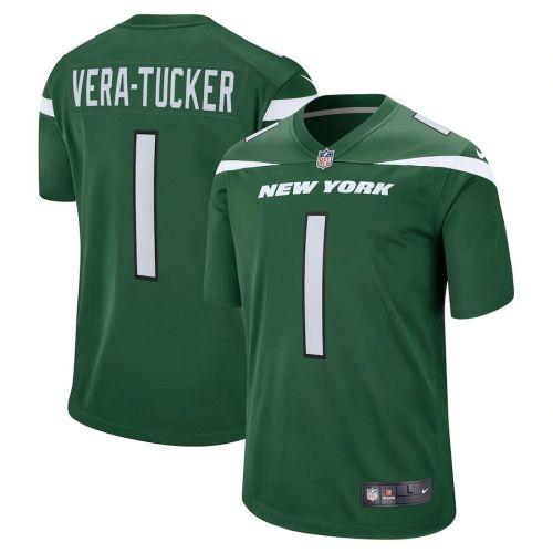 Youth Alijah Vera-Tucker Gotham Green 2021 Draft First Round Pick Player Limited Team Jersey