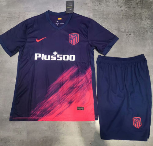 Atletico Madrid 21/22 Away Soccer Jersey and Short Kit