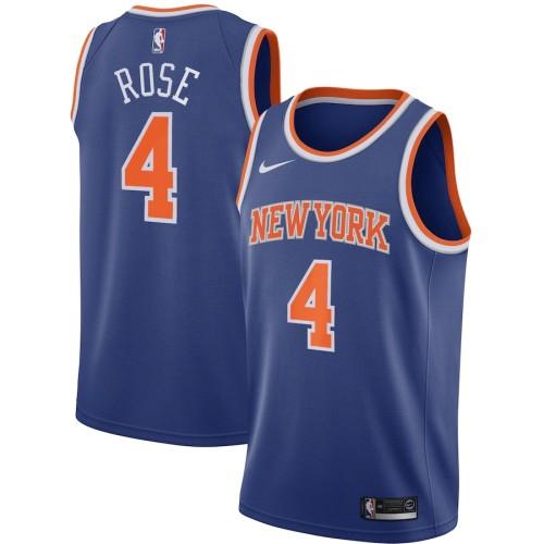Men's Derrick Rose Royal Player Team Jersey