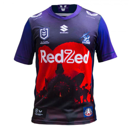 Melbourne Storm 2021 Men's Rugby Anzac Jersey