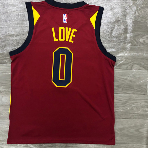 Thai Version Men's Kevin Love Maroon Swingman Player Jersey - Icon Edition