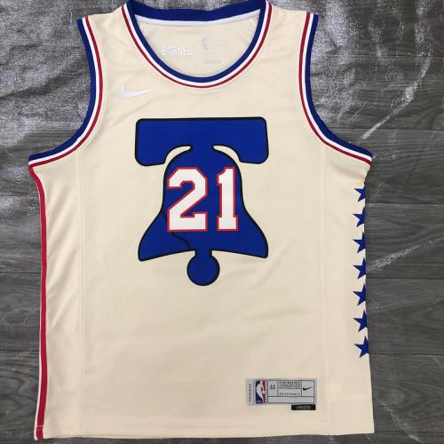 Thai Version Men's Joel Embiid Cream 2020-21 Swingman Player Jersey – Earned Edition