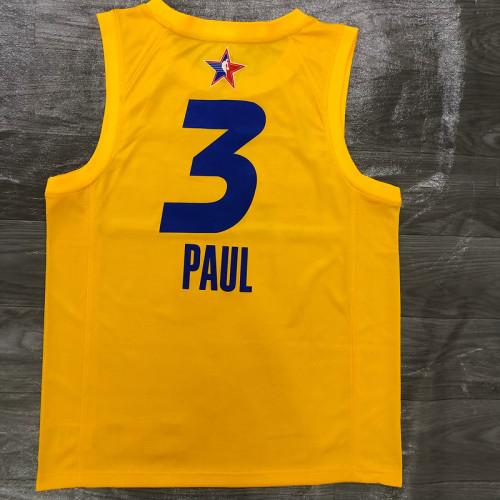 Thai Version Men's Chris Paul All-Star 2021 Yellow Swingman Player Jersey