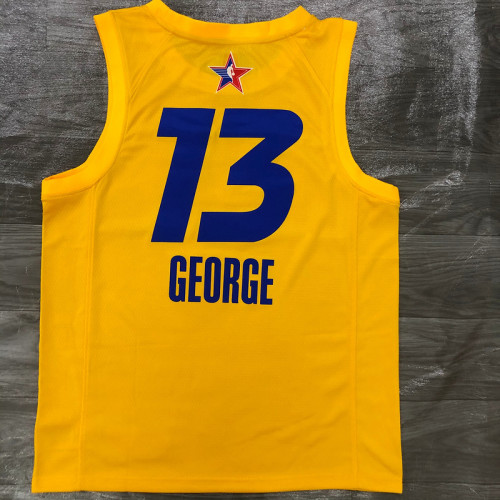 Thai Version Men's Paul George All-Star 2021 Yellow Swingman Player Jersey