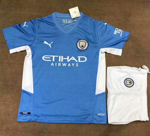 Manchester City 21/22 Home Jersey and Short Kit