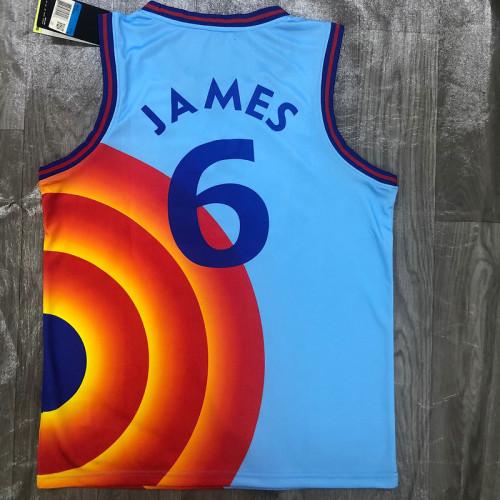 Thai Version Men's LeBron James Blue Swingman Player Jersey - Movie Edition