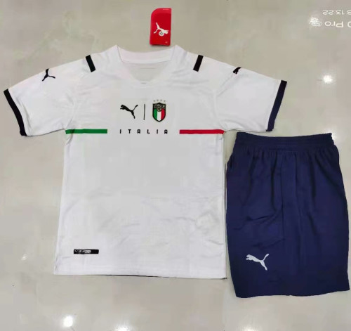 Kids Italy 21/22 Away Jersey and Short Kit