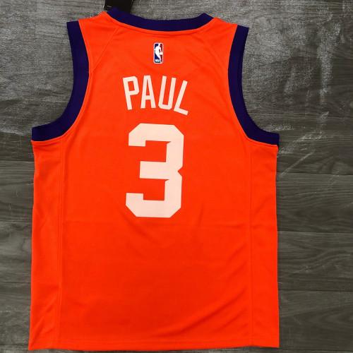 Thai Version Men's Chris Paul Orange Finished Swingman Player Jersey - Statement Edition