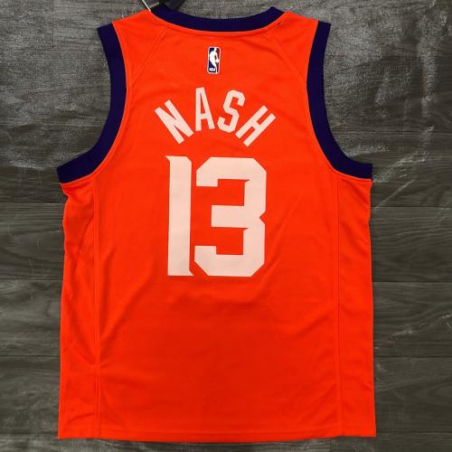 Thai Version Men's Steve Nash Orange Finished Swingman Player Jersey - Statement Edition