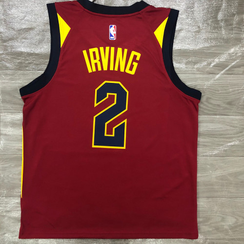 Thai Version Men's Kyrie Irving Maroon Swingman Player Jersey - Icon Edition