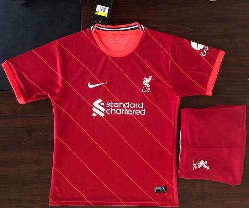 Kids Liverpool 21/22 Home Jersey and Short Kit