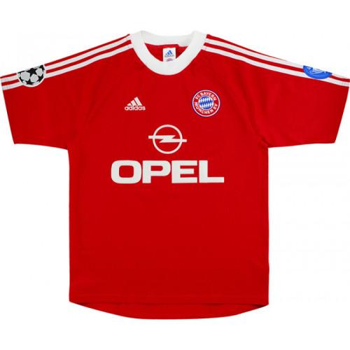 Bayern Munich 2001-02 UCL Home Retro Jersey #24 Santa Cruz