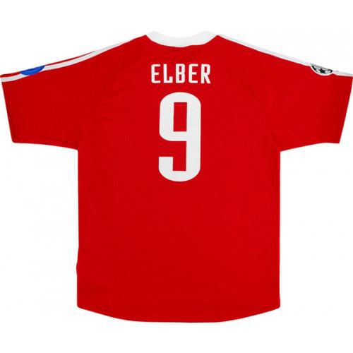 Bayern Munich 2001-02 UCL Home Retro Jersey #9 Elber