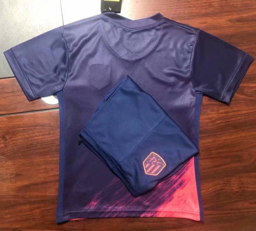 Kids Atletico Madrid 21/22 Away Jersey and Short Kit
