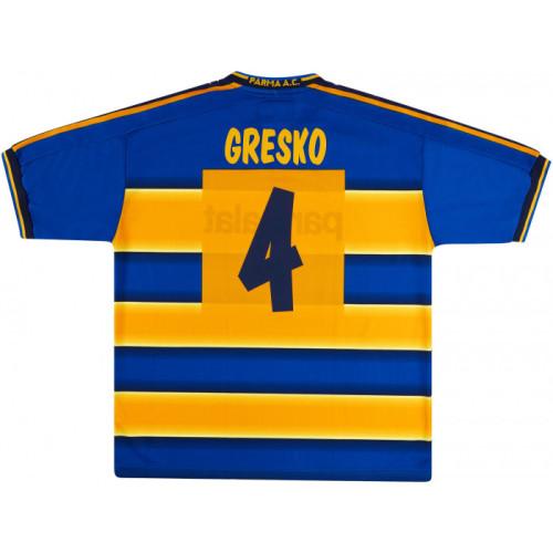 Parma Calcio 2002-2003 Home Retro Jersey Gresko #4