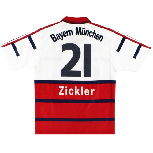 Bayern Munich 1998-2000 Home Retro Jersey Zickler #21