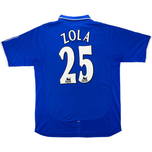 Chelsea 2001-2003 Home Retro Jersey Zola #25