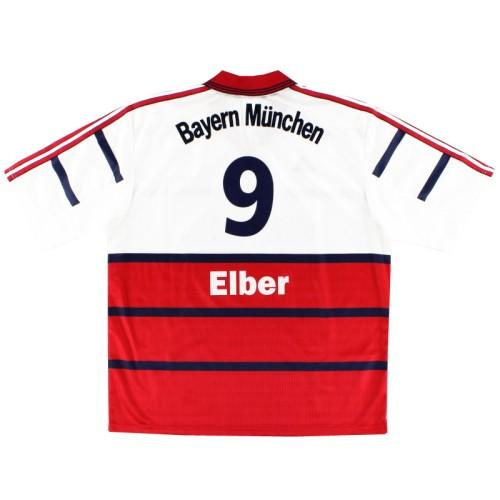 Bayern Munich 1998-2000 Home Retro Jersey Elber #9