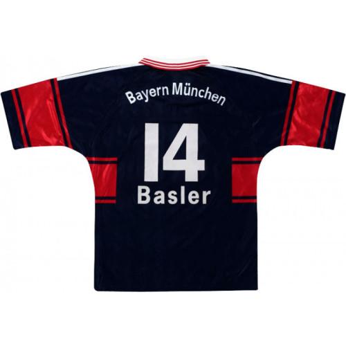 Bayern Munich 1997-1999 Home Retro Jersey Basler #14