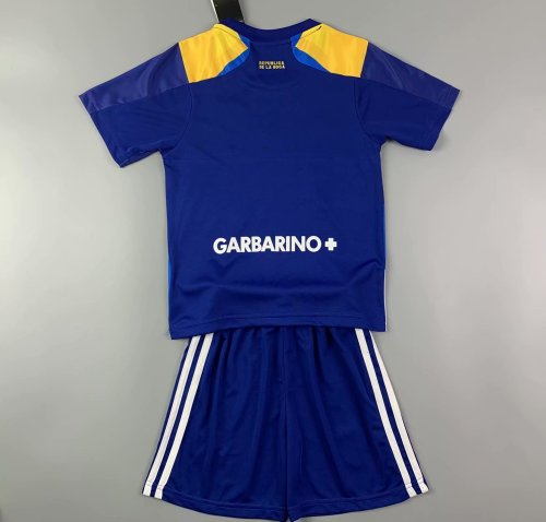 Kids Boca Juniors 2021 Third Jersey and Short Kit