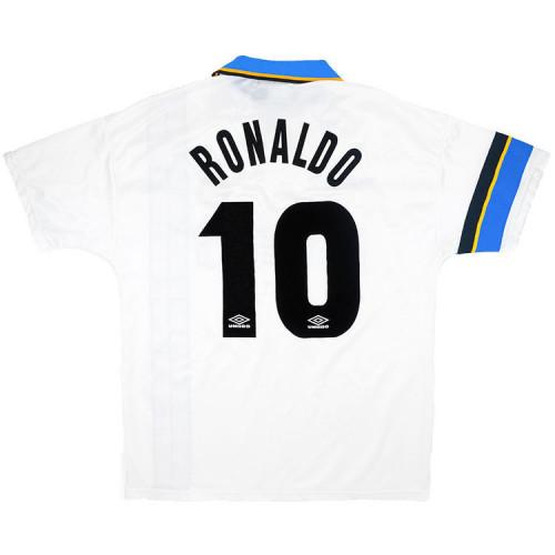 Inter Milan 1997/1998 Away Retro Jersey #10 Ronaldo