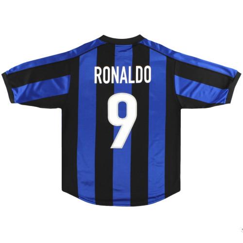 Inter Milan 1999/2000 Retro Home Jersey #9 Ronaldo