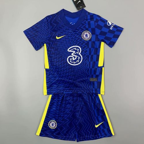 Kids Chelsea 21/22 Home Jersey and Short Kit