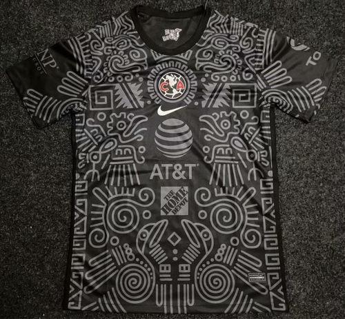 Thai Version Club America 21/22 Pre Match Jersey - Black