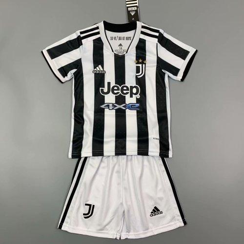 Kids Juventus 21/22 Home Jersey and Short Kit
