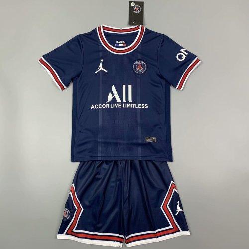 Kids Paris Saint-Germain 21/22 Home Jersey and Short Kit