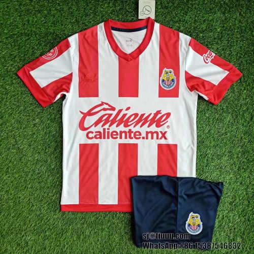 Chivas de Guadalajara 2021 Home Jersey and Short Kit