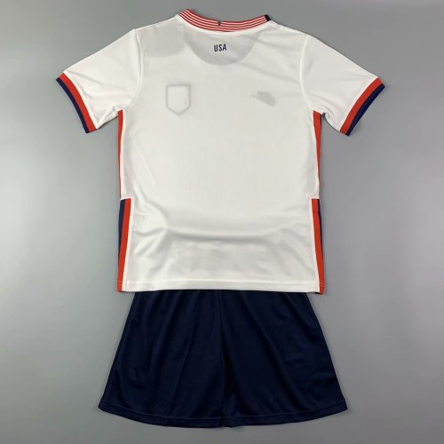 Kids USA 2021 Home Jersey and Short Kit