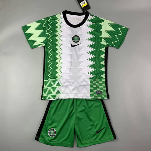 Kids Nigeria 2021 Home Jersey and Short Kit
