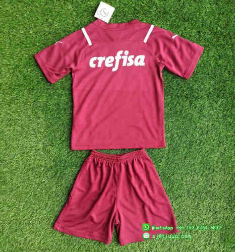 (On Sale) Kids Palmeiras 2021 Goalkeeper GK3 Soccer Jersey and Short Kit