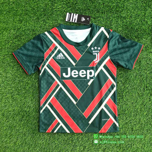 (On Sale) Kids Juventus 21/22 Limited Edition Jersey and Short Kit - Green