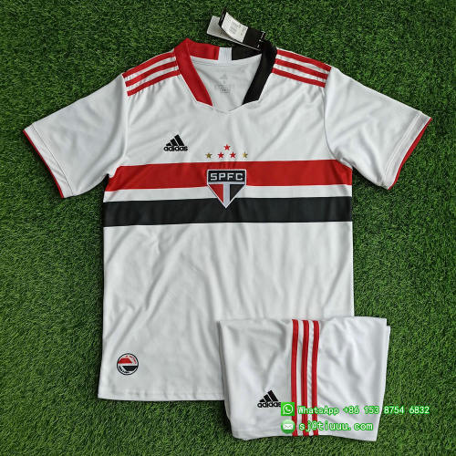 (On Sale) Sao Paulo2021 Home Soccer Jersey and Short Kit