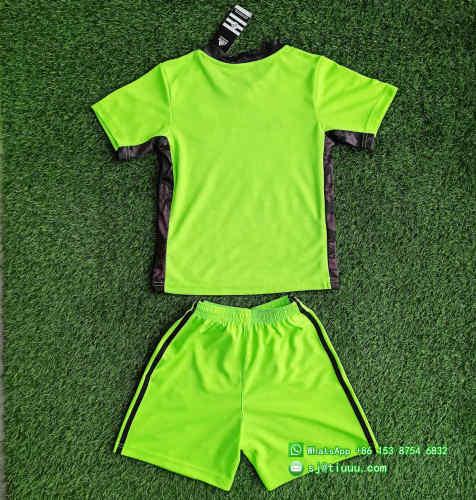 (On Sale) Kids Atlanta United FC 2021 Goalkeeper Jersey and Short Kit