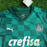 (On Sale) Kids Palmeiras 2021 Home Jersey and Short Kit
