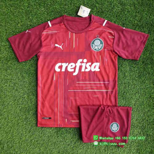 (On Sale) Palmeiras 2021 Goalkeeper GK3 Soccer Jersey and Short Kit