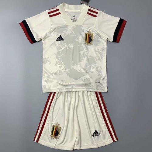 Kids Belgium 2021 Away Jersey and Short Kit