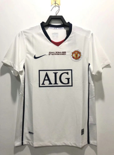 Manchester United 2008/2009 Away Retro Jersey - Final Roma 2009