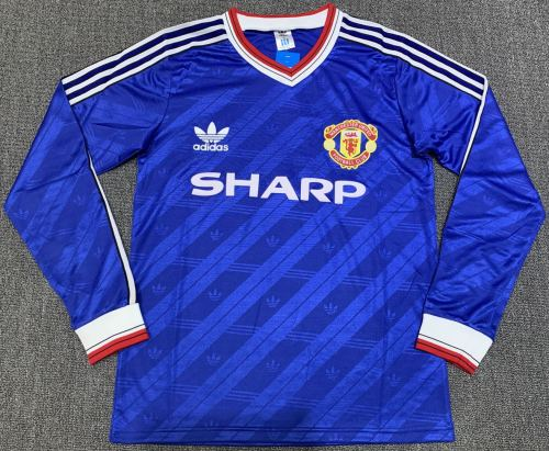 Manchester United 1986-88 Third Retro L/S Jersey