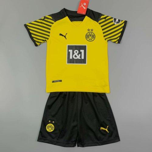 Kids Borussia Dortmund 21/22 Home Jersey and Short Kit