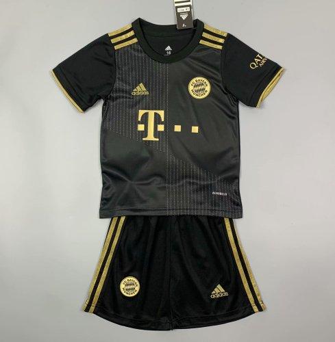 Kids Bayern Munich 21/22 Away Jersey and Short Kit
