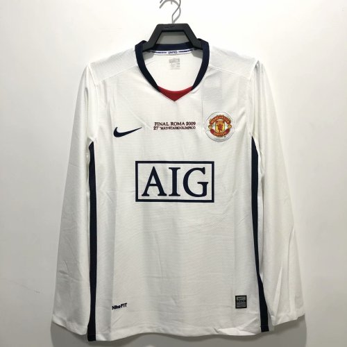 Manchester United 2008/2009 Away Retro L/S Jersey - Final Roma 2009