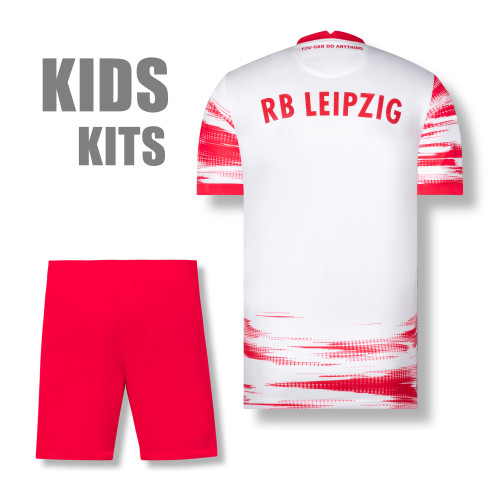 Kids RB Leipzig 21/22 Home Jersey and Short Kit