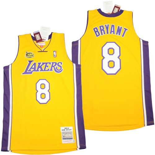 Kobe Bryant #8 Gold Retro Classics 1999-00 Authentic Jersey