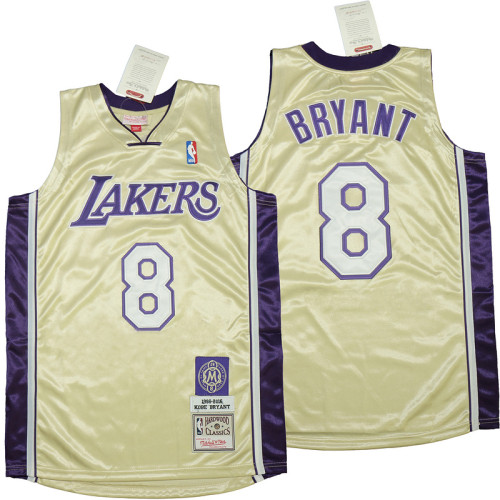 Kobe Bryant Gold Hall of Fame Class of 2020 #8 Authentic Retro Classics Jersey